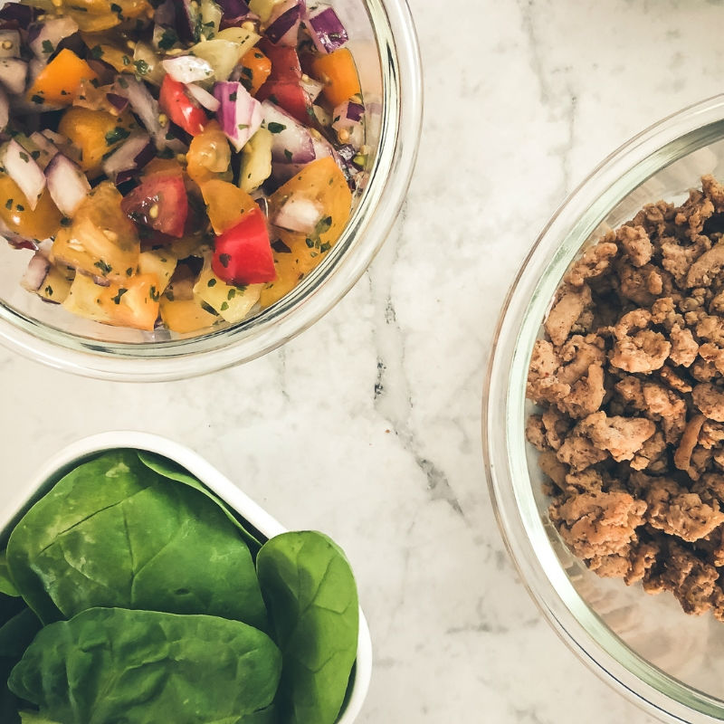 Low carb Taco Salad perfect for meal prep