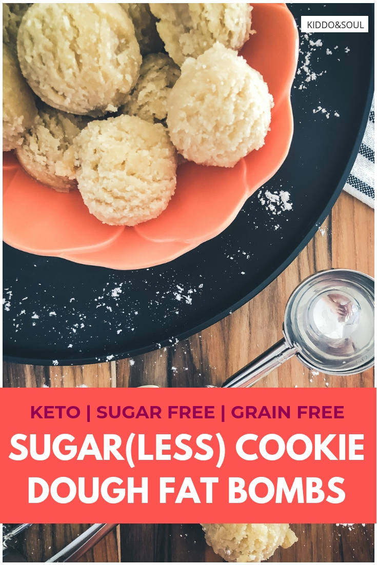 Quick and easy sugar cookie dough fat bombs sans the sugar