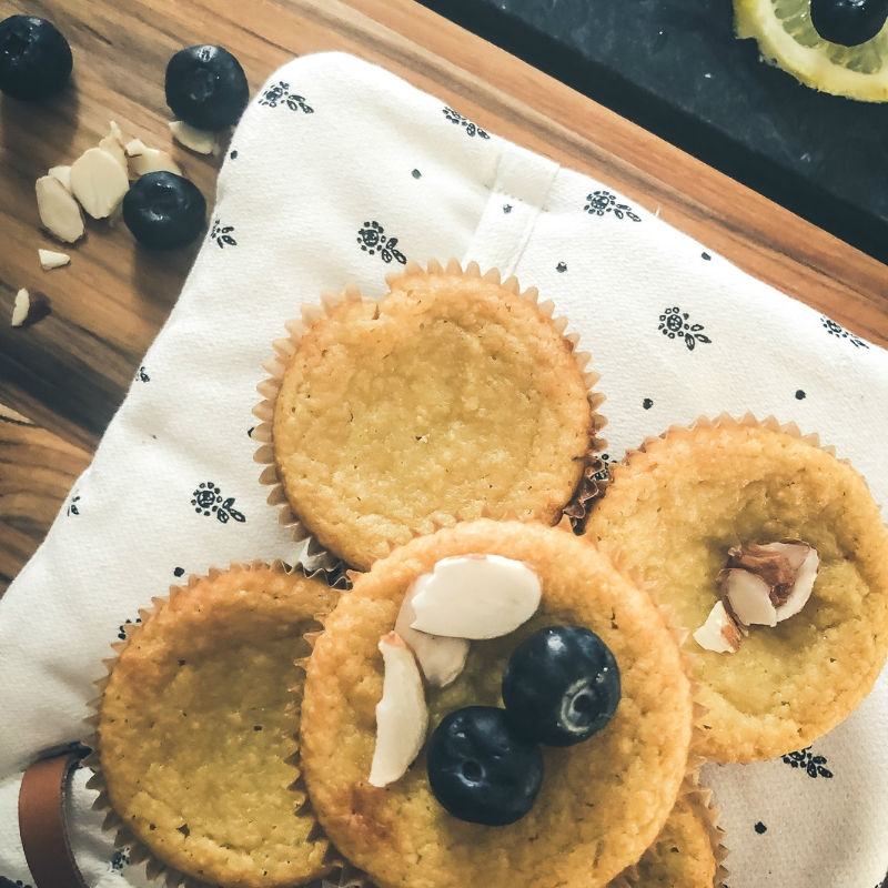 Sweet Sassy Lemon Ricotta Muffins low carb grain free sugar free