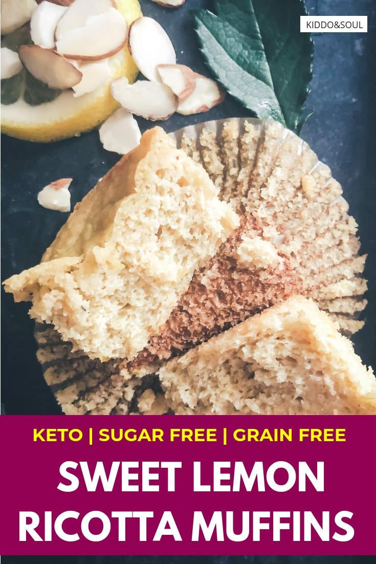 Sweet Sassy Lemon Ricotta Muffins low carb grain free sugar free