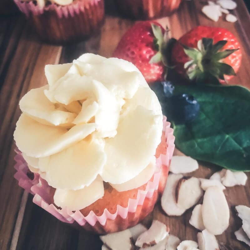 Low Carb Strawberry Shortcake Cupcakes (No sugar or grains!)