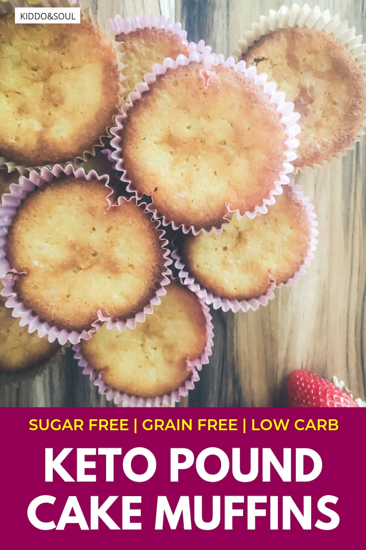 Super Easy Keto Pound Cake Muffins Recipe