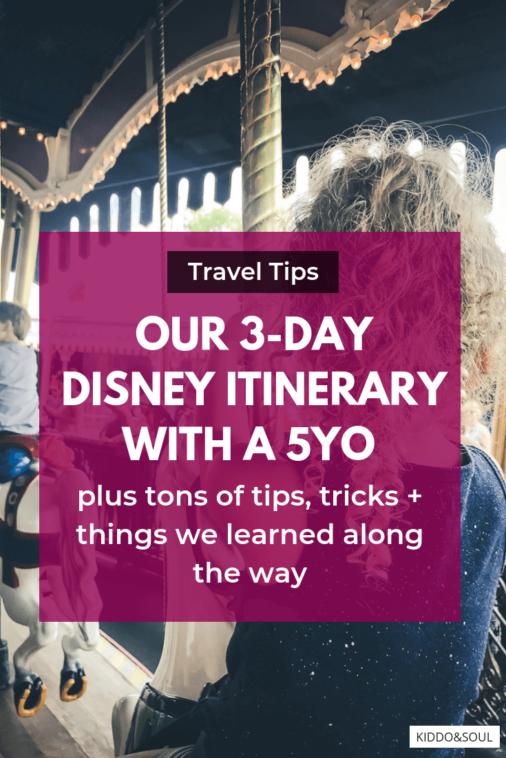Our Disney Itinerary! 3 day Disney Touring Plan