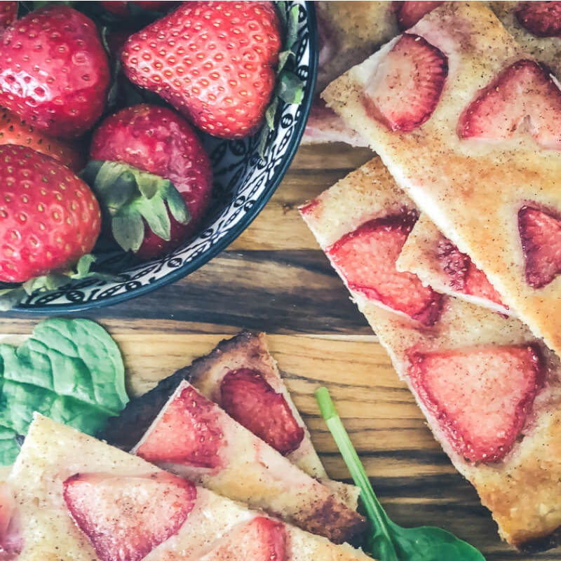 Baking with Kids Low Carb Strawberry Dessert Pizza