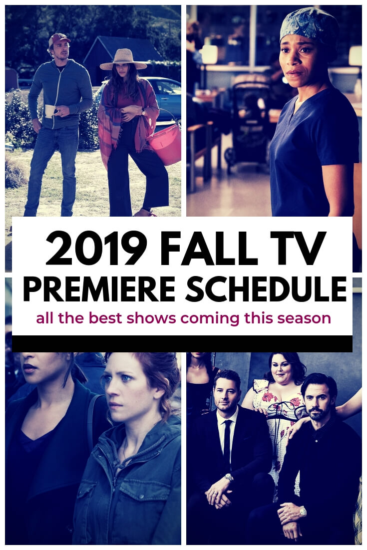 Fall TV is (almost) here! Here's the premiere schedule.