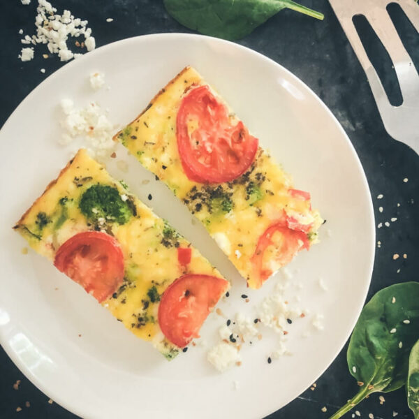Low Carb and Grain Free Broccoli and Feta Breakfast Casserole