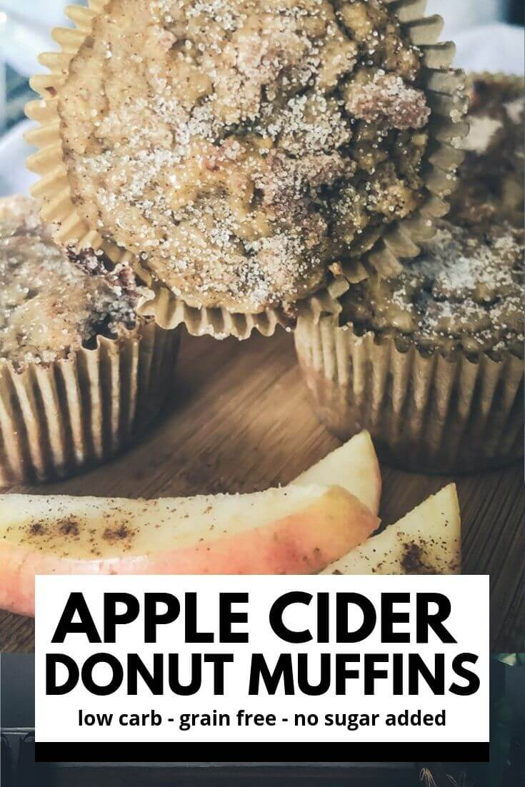 Low Carb Apple Cider Donut Muffins