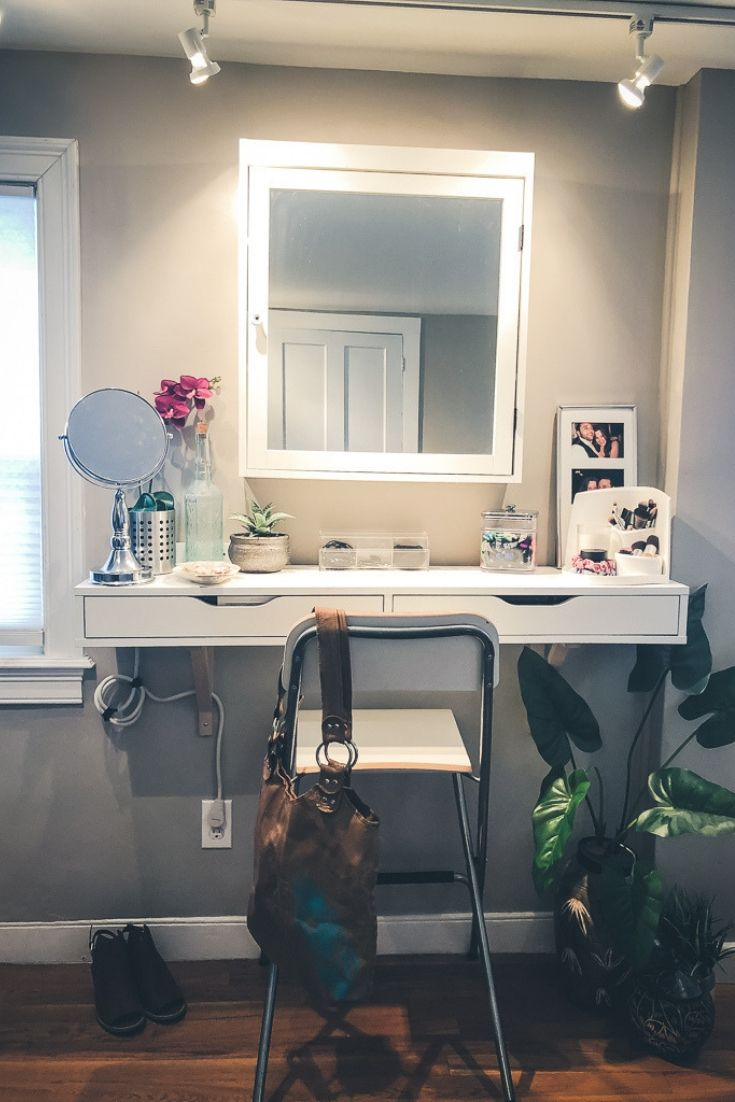Peak inside my DIY vanity (and see how I organize everything inside!)
