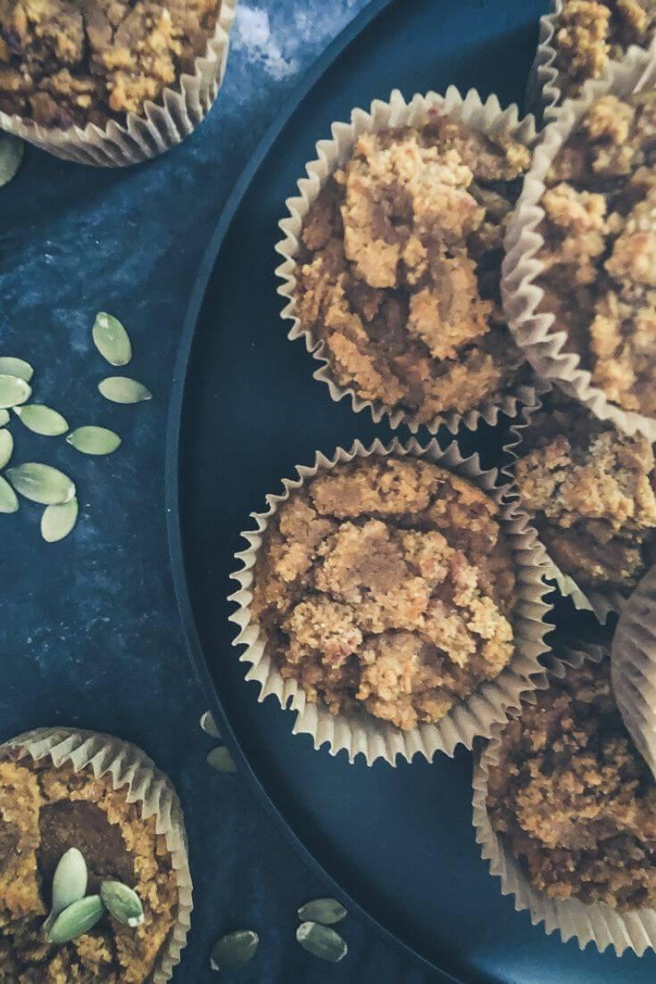 Easy peasy sugar free pumpkin spice muffins