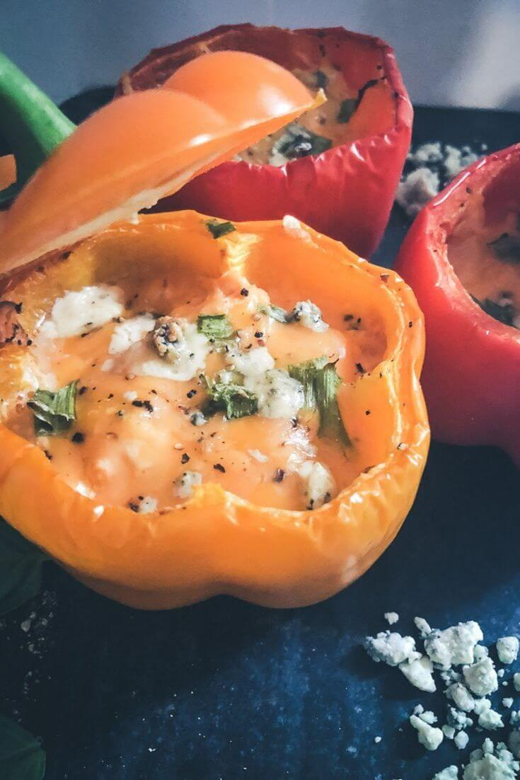 Add These Buffalo Chicken Stuffed Peppers to Your Favorite Meal Prep Meals list!