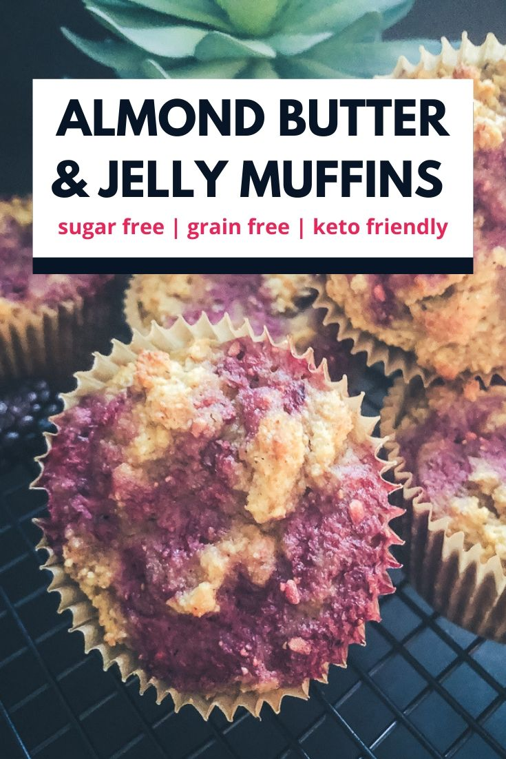 almond butter and jelly muffin recipe