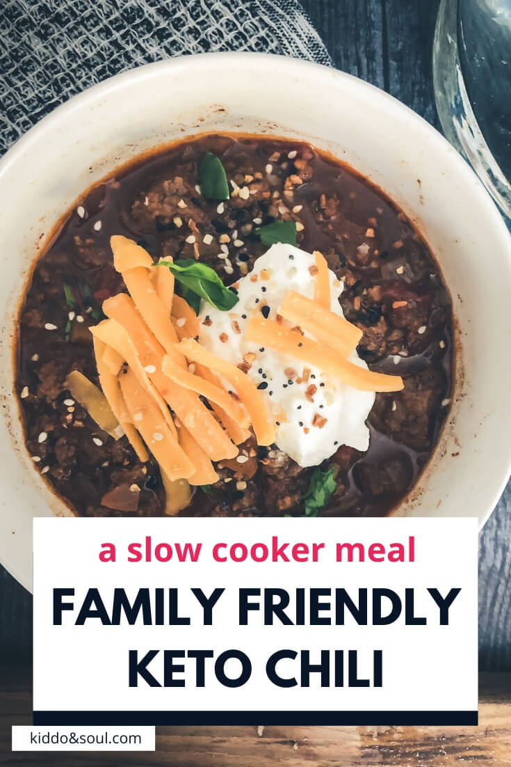 family-friendly, slow cooker keto chili