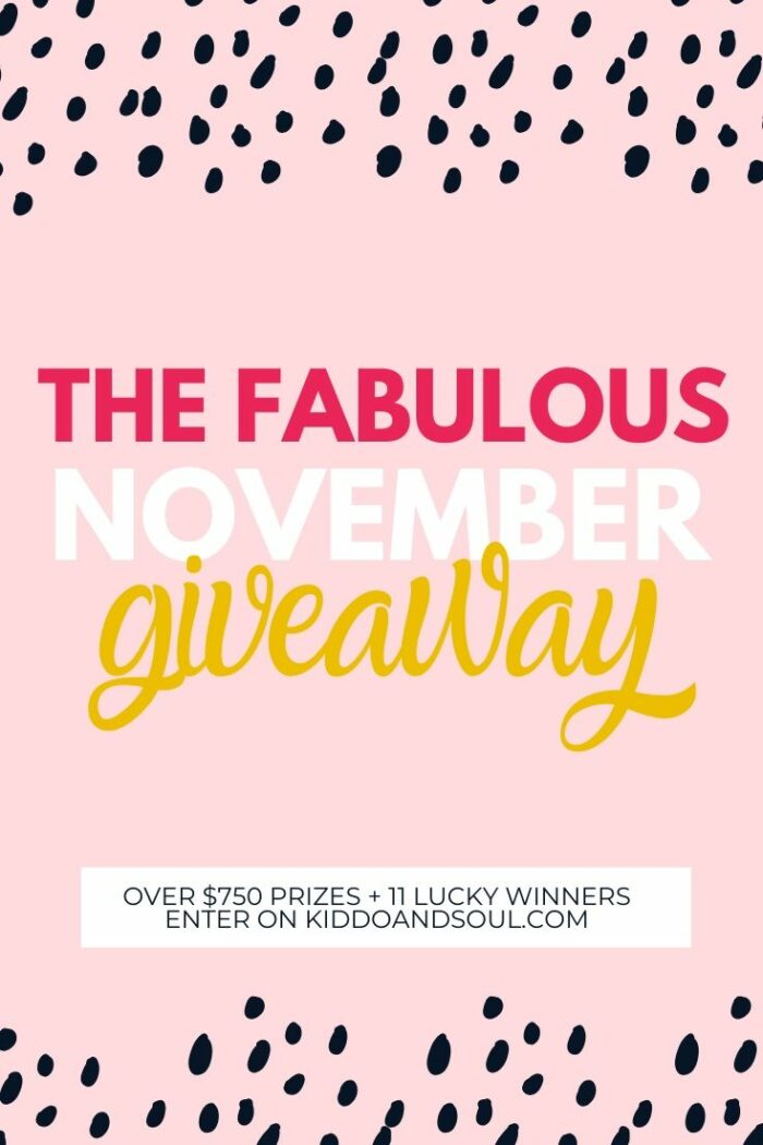 The fabulous November giveaway is live – 11 Winners!