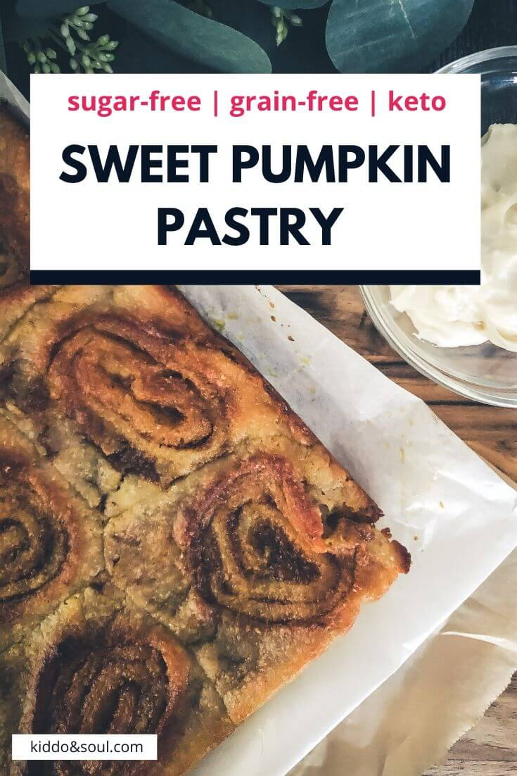 sweet pumpkin pastry with a cinnamon swirl