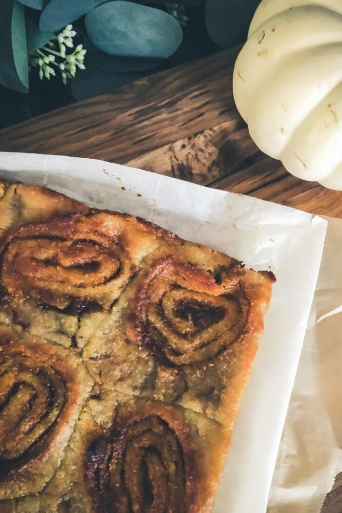 Sweet cinnamon swirl pumpkin pastry (a happy little accident)
